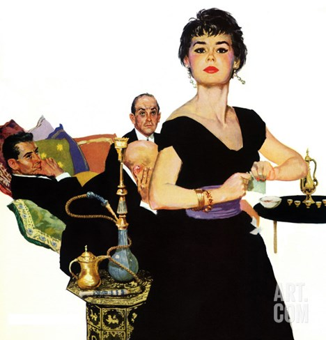 "Auctioned Bride - Saturday Evening Post ""Men at the Top"", October 16, 1954 pg.34 Stretched Canvas Print"