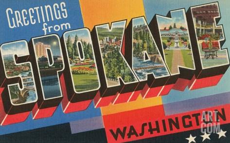 Greetings from Spokane, Washington Stretched Canvas Print