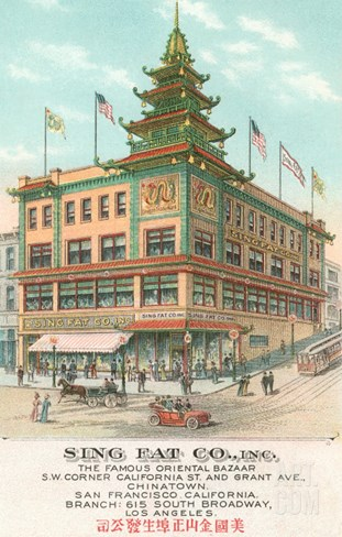 Sing Fat Company, Chinatown, San Francisco, California Stretched Canvas Print