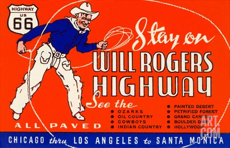 Will Rogers Highway, Route 66 Stretched Canvas Print