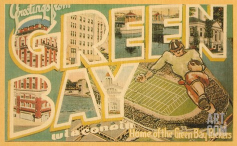 Greetings from Green Bay, Wisconsin Stretched Canvas Print