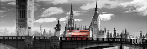 London Bus VI Stretched Canvas Print