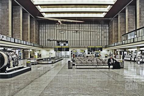 Tempelhof Stretched Canvas Print