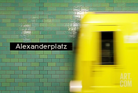 Alexanderplatz Stretched Canvas Print