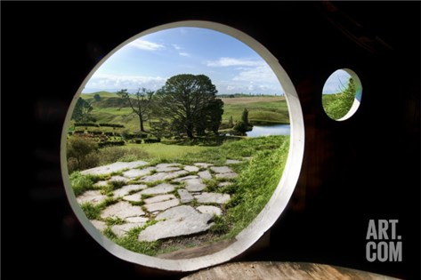 From Bilbo's Hobbit Hole Stretched Canvas Print