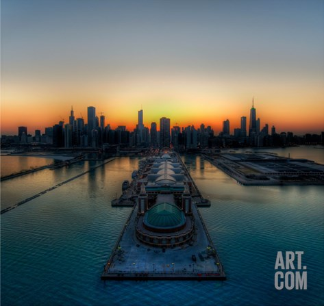 Chicago Thaws into Spring Stretched Canvas Print