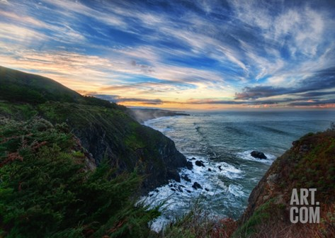 Big Sur in the Morning Stretched Canvas Print