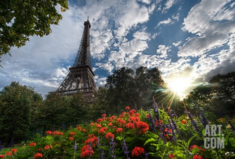 Another Summer Day in Paris Stretched Canvas Print