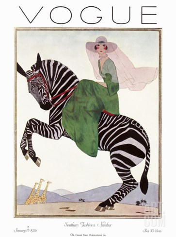 Vogue Cover - January 1926 Stretched Canvas Print