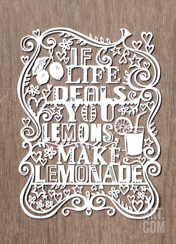 If Life Deals You Lemons, Make Lemonade Stretched Canvas Print