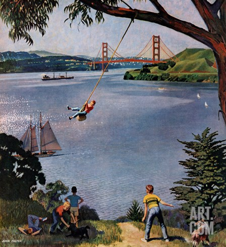 """San Francisco Bay Boys"", May 26, 1956 Stretched Canvas Print"