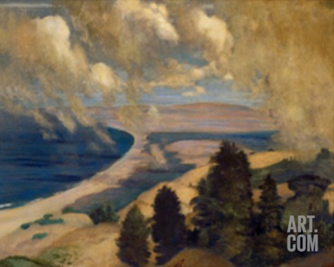 Pacific Parnassus, Mount Tamalpais, ca. 1905 Stretched Canvas Print