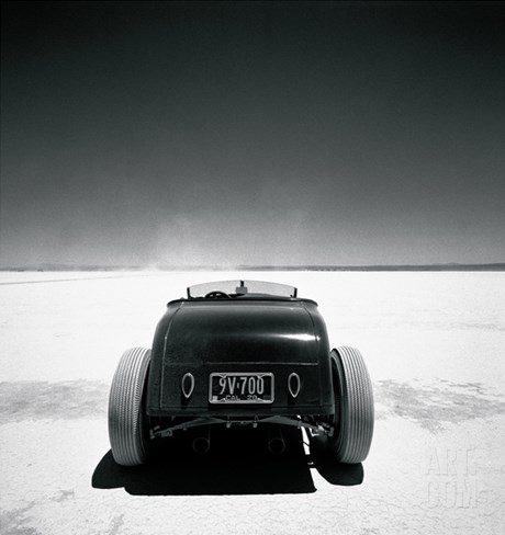 Roadster, Muroc Stretched Canvas Print