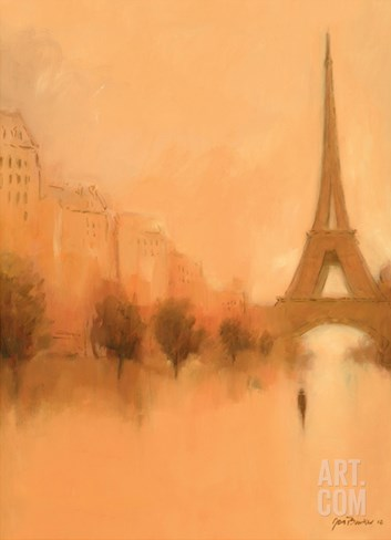 Stranger in Paris Stretched Canvas Print