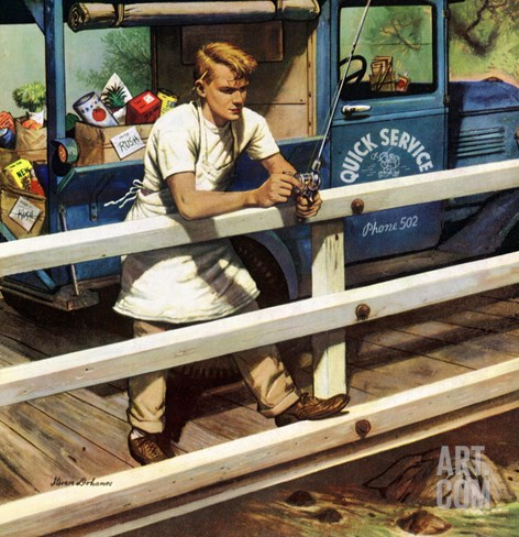 """Rush Order"", May 9, 1953 Stretched Canvas Print"