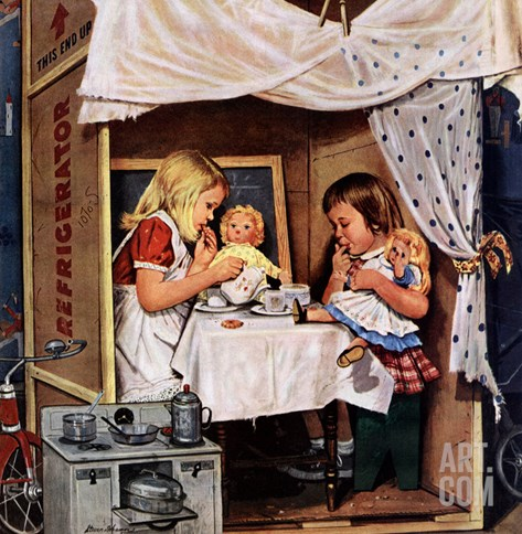 """Playing House"", January 31, 1953 Stretched Canvas Print"