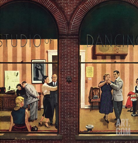 """Dancing Class"", May 10, 1952 Stretched Canvas Print"