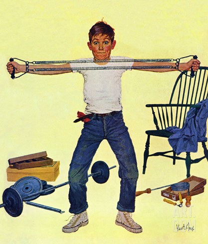 """Working Out"", March 14, 1959 Stretched Canvas Print"