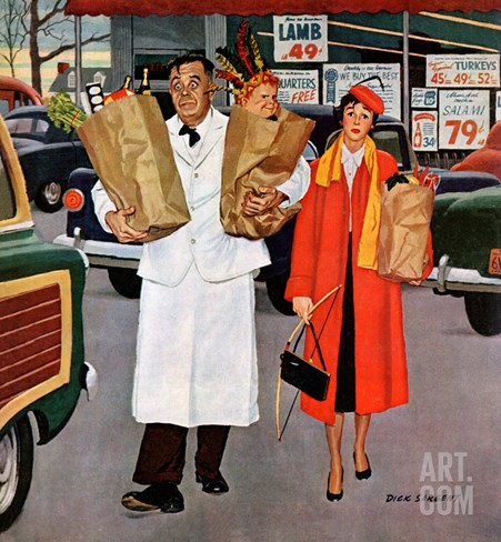 """Sack Full of Trouble"", April 14, 1956 Stretched Canvas Print"