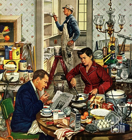 """Home Improvement"", December 5, 1953 Stretched Canvas Print"