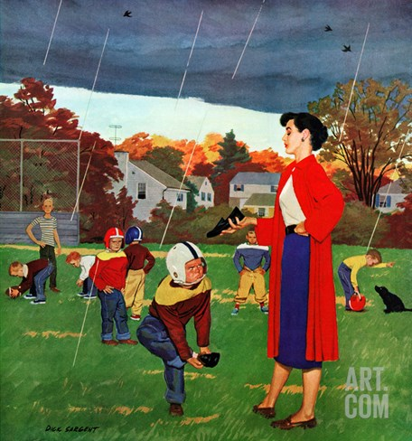 """Oh Mother!"", October 5, 1957 Stretched Canvas Print"
