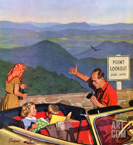 """Lookout Point"", July 18, 1953 Stretched Canvas Print"