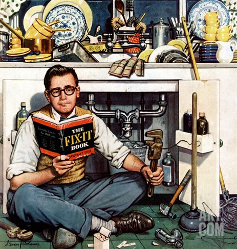 """Mr. Fix-It"", January 14, 1956 Stretched Canvas Print"