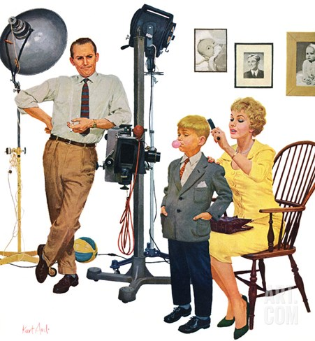 """At the Photographer"", September 26, 1959 Stretched Canvas Print"