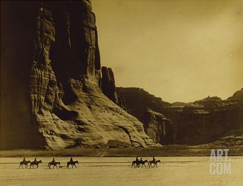 Canon De Chelly, Arizona, Navaho (Trail of Tears) Stretched Canvas Print