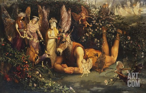 Titania and Bottom: Scene from a Midsummer-Night's Dream Stretched Canvas Print