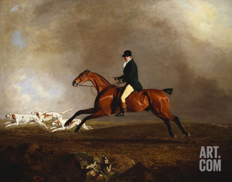 Thomas Mellish on His Hunter 'saucebox' Stretched Canvas Print
