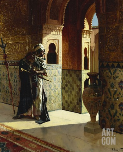 The Moorish Guard, the Alhambra Stretched Canvas Print