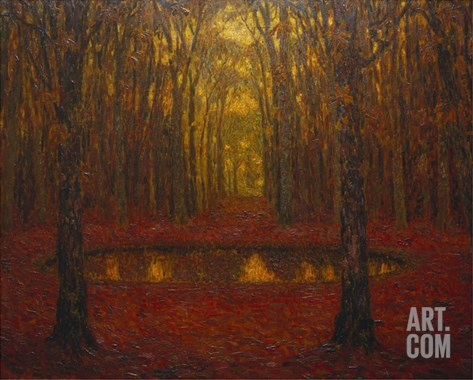 The Pond at Versailles in Autumn; Le Bassin a Versailles En Automne Stretched Canvas Print