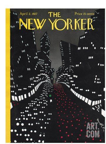 The New Yorker Cover - April 2, 1927 Stretched Canvas Print
