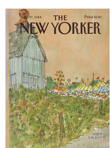 The New Yorker Cover - August 27, 1984 Stretched Canvas Print