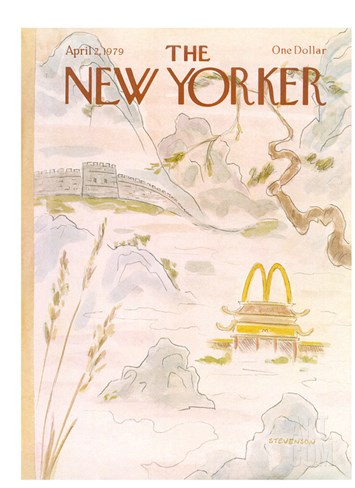 The New Yorker Cover - April 2, 1979 Stretched Canvas Print