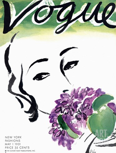 Vogue Cover - May 1931 Stretched Canvas Print