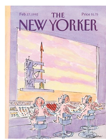 The New Yorker Cover - February 17, 1992 Stretched Canvas Print