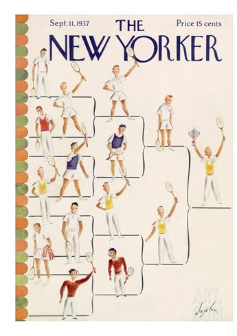 The New Yorker Cover - September 11, 1937 Stretched Canvas Print