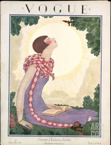 Vogue Cover - June 1925 Stretched Canvas Print