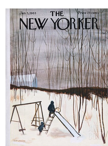The New Yorker Cover - January 5, 1963 Stretched Canvas Print