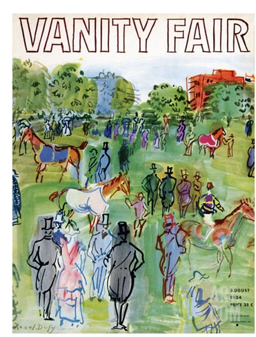 Vanity Fair Cover - August 1934 Stretched Canvas Print