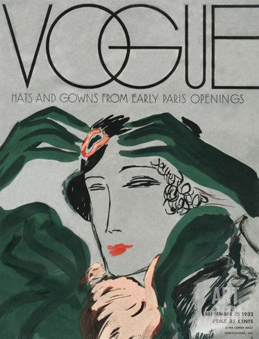Vogue Cover - September 1932 Stretched Canvas Print