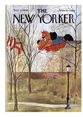 The New Yorker Cover - November 26, 1966 Stretched Canvas Print