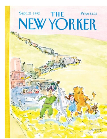 The New Yorker Cover - September 21, 1992 Stretched Canvas Print