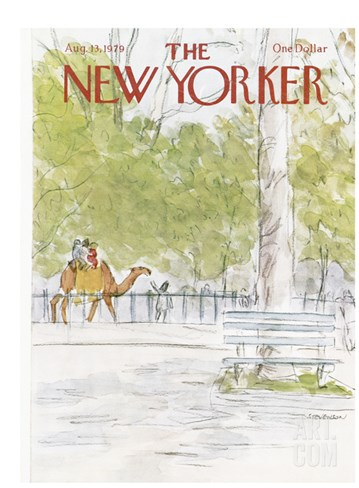 The New Yorker Cover - August 13, 1979 Stretched Canvas Print