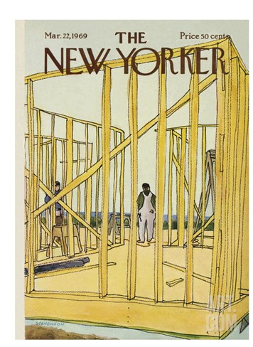 The New Yorker Cover - March 22, 1969 Stretched Canvas Print