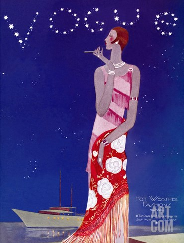 Vogue Cover - July 1926 Stretched Canvas Print