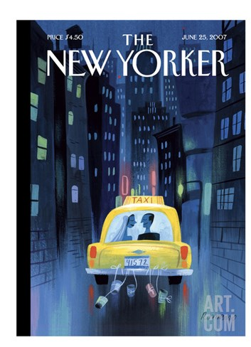 The New Yorker Cover - June 25, 2007 Stretched Canvas Print