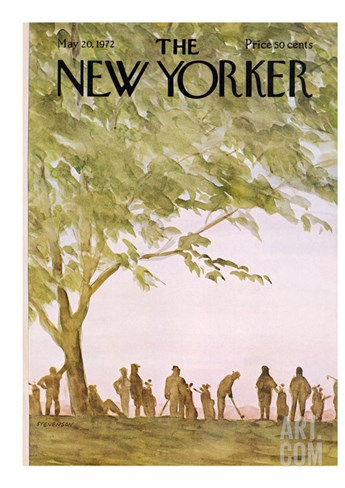 The New Yorker Cover - May 20, 1972 Stretched Canvas Print